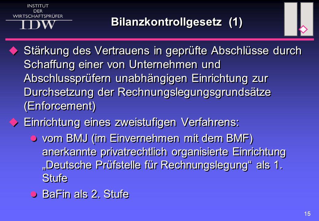 Bilanzkontrollgesetz (1)