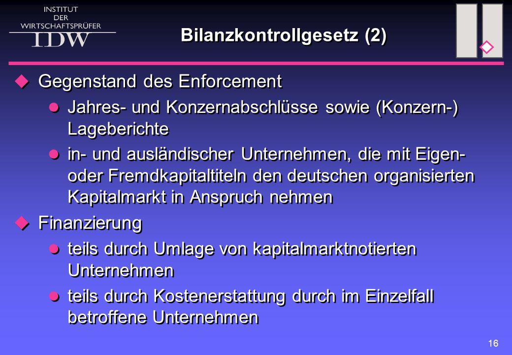 Bilanzkontrollgesetz (2)