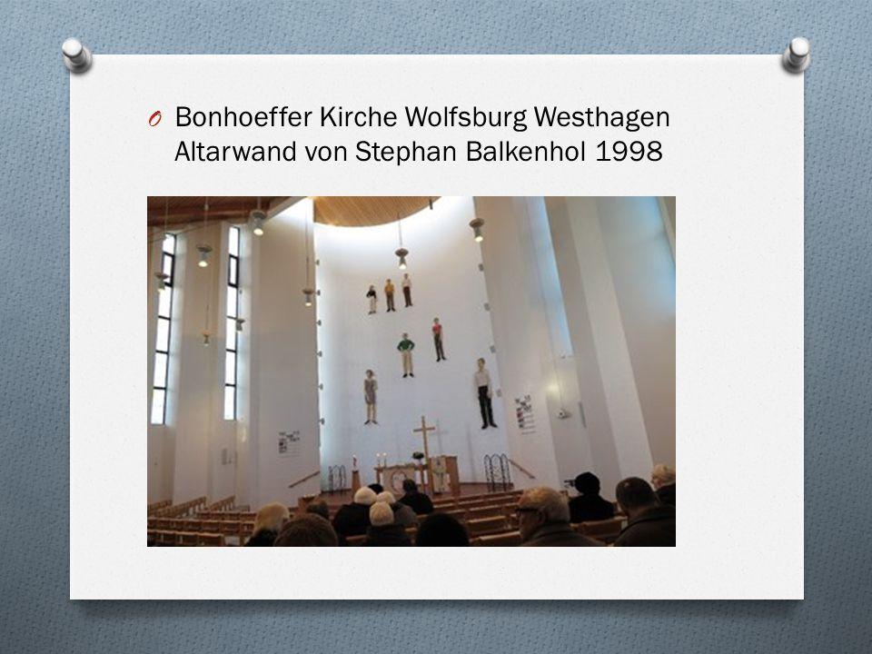 Bonhoeffer Kirche Wolfsburg Westhagen Altarwand von Stephan Balkenhol 1998