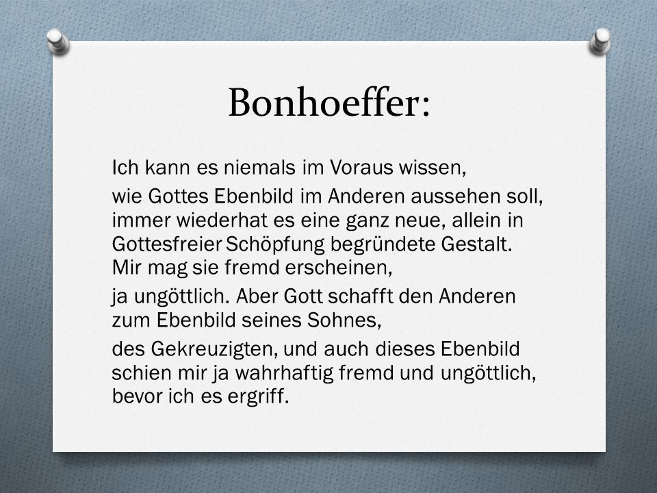 Bonhoeffer: