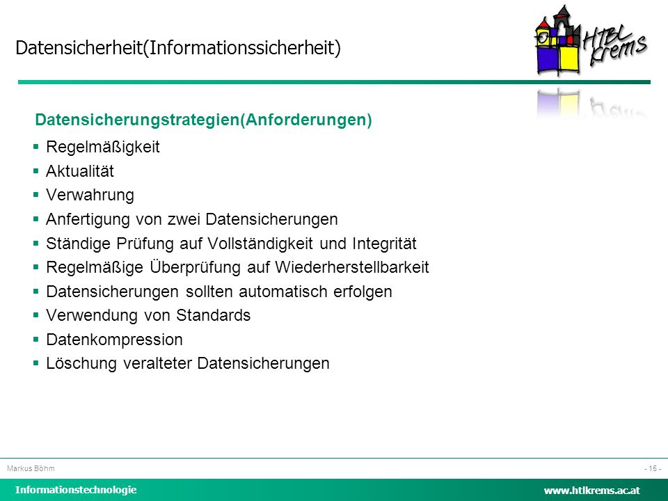 Datensicherungstrategien(Anforderungen)