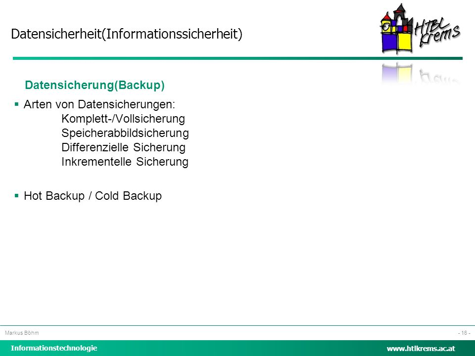 Datensicherung(Backup)