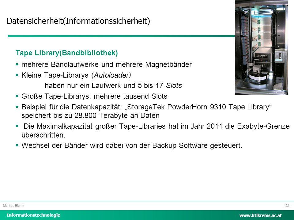 Tape Library(Bandbibliothek)