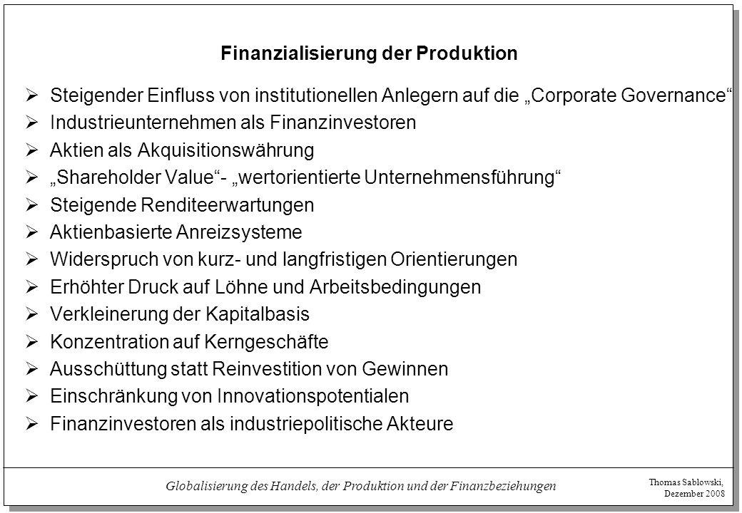 Finanzialisierung der Produktion