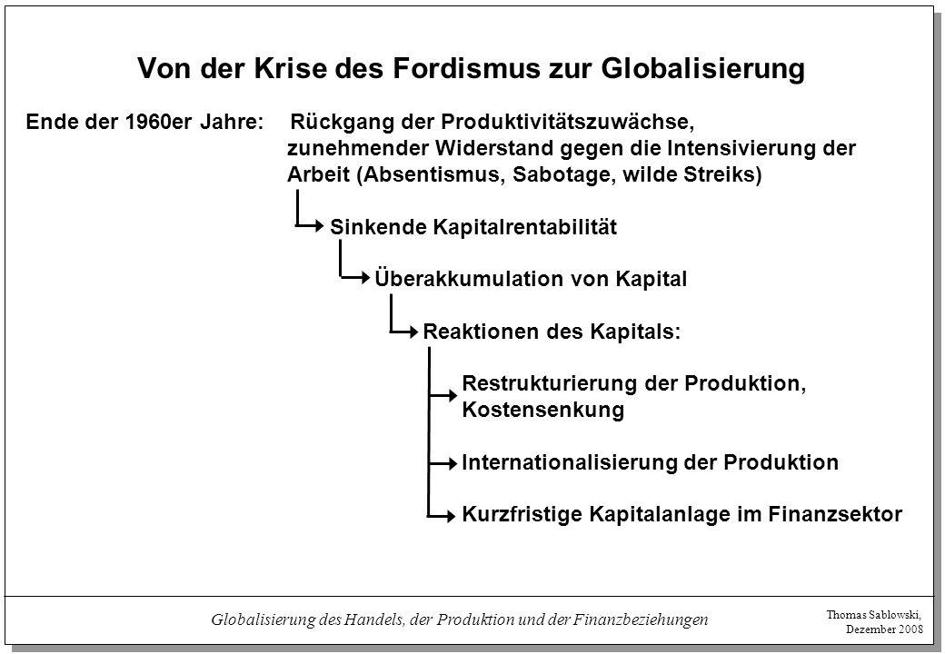 Von der Krise des Fordismus zur Globalisierung