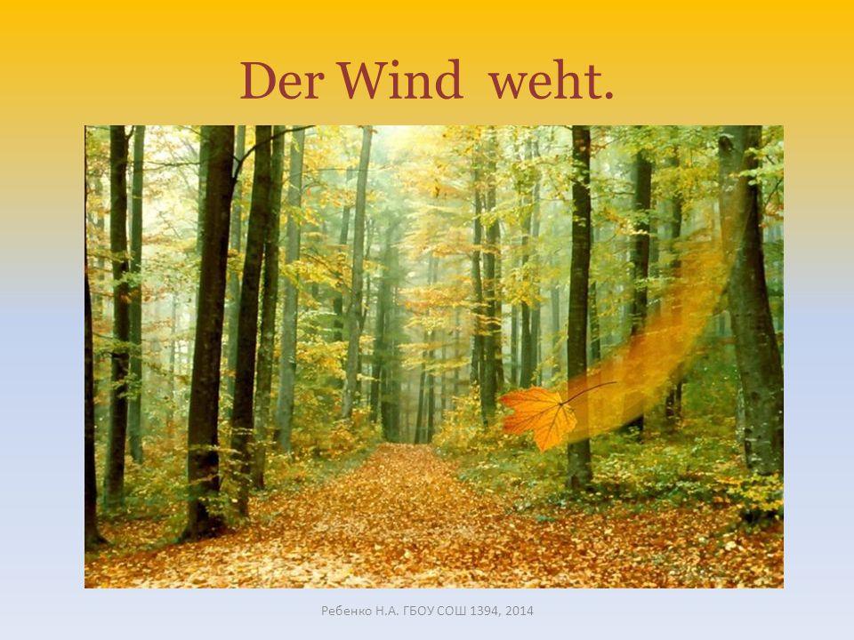 Der Wind weht. Ребенко Н.А. ГБОУ СОШ 1394, 2014