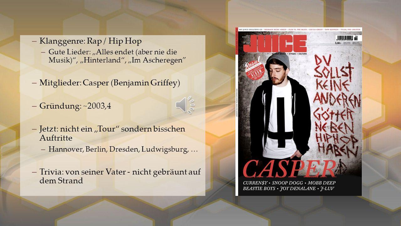 Klanggenre: Rap / Hip Hop