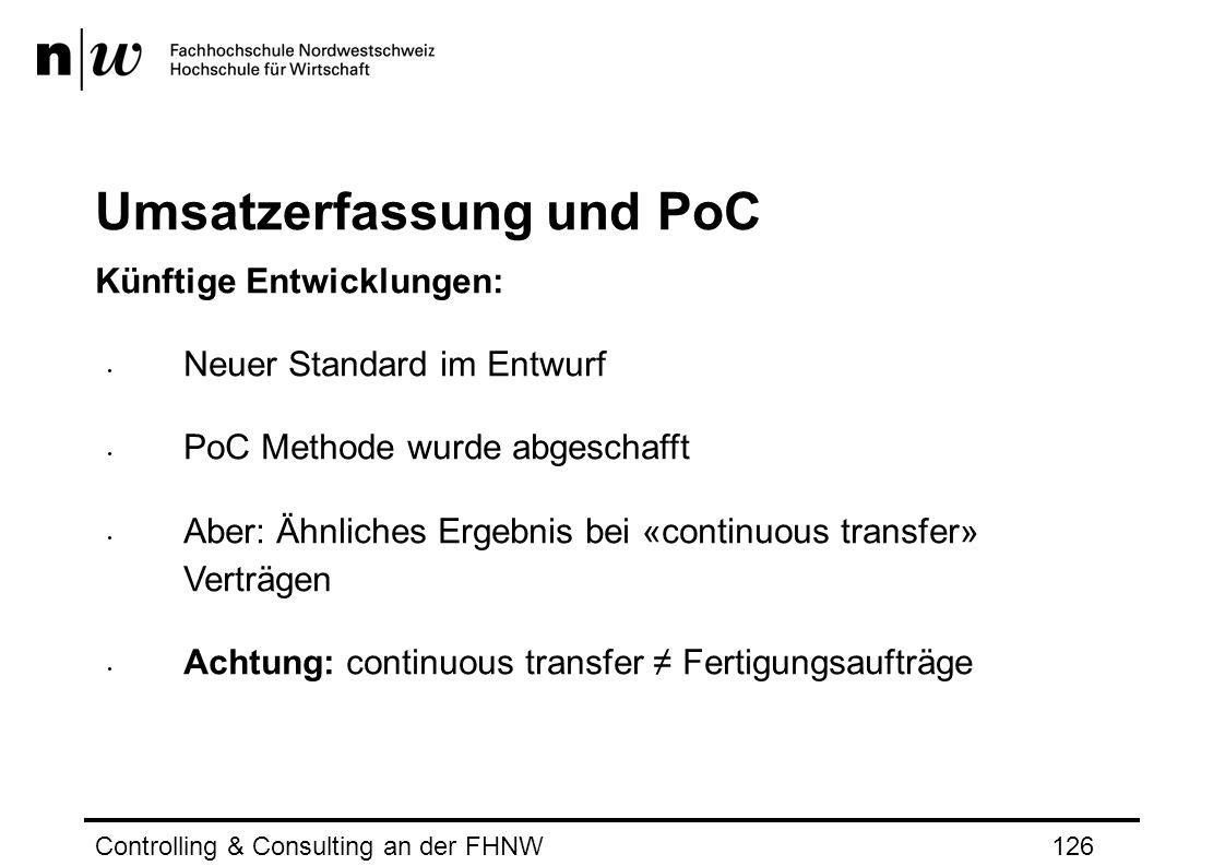 Umsatzerfassung und PoC