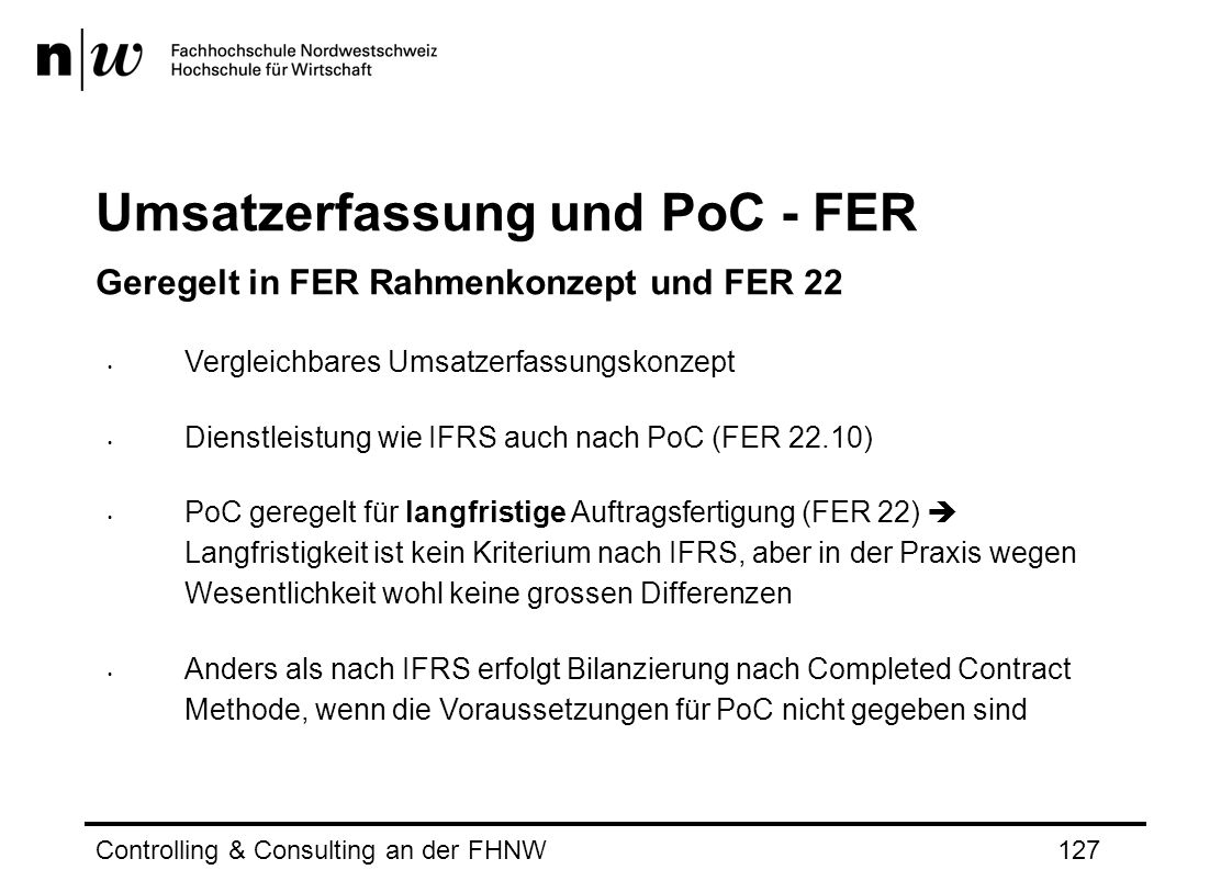 Umsatzerfassung und PoC - FER