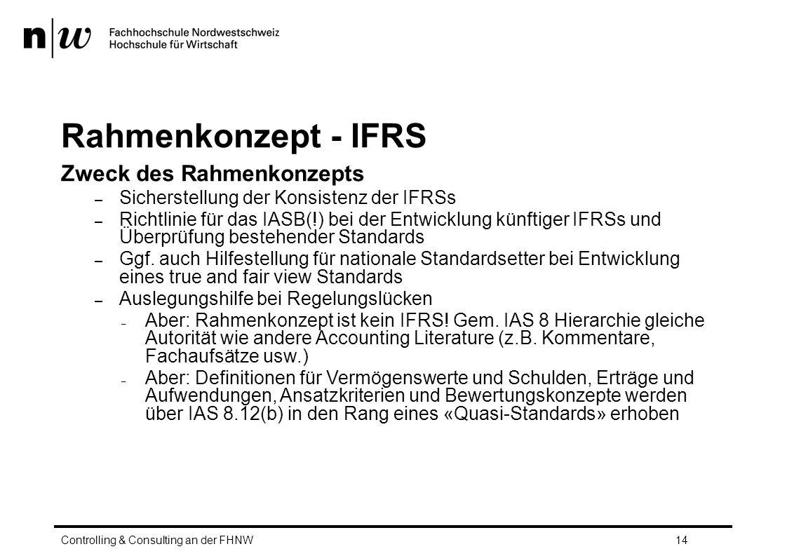 Rahmenkonzept - IFRS Zweck des Rahmenkonzepts