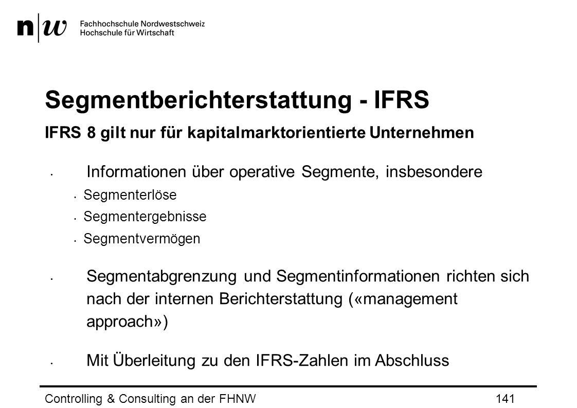 Segmentberichterstattung - IFRS