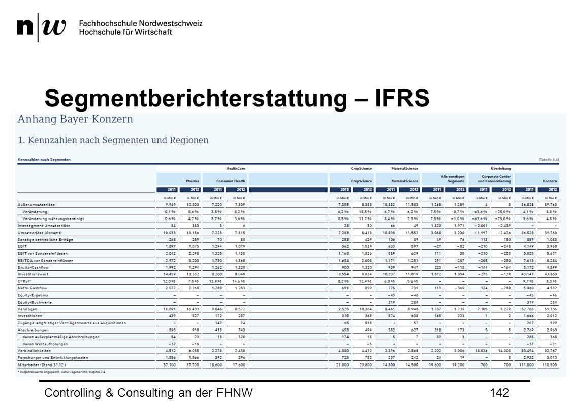 Segmentberichterstattung – IFRS