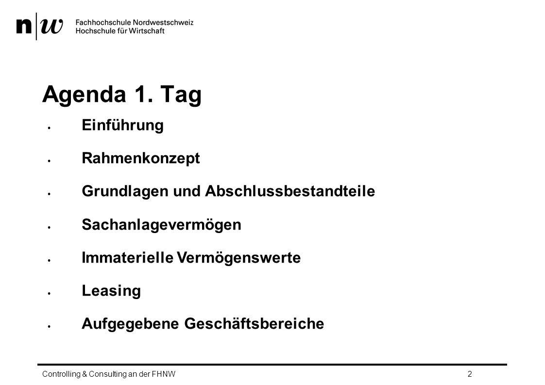 Agenda 1. Tag Einführung Rahmenkonzept