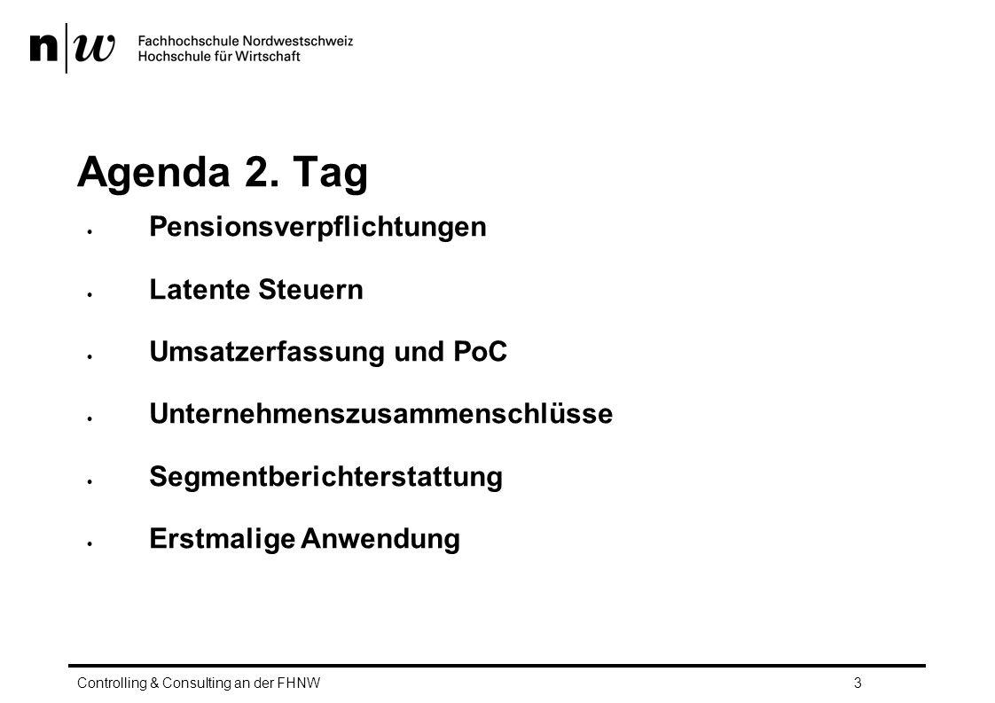 Agenda 2. Tag Pensionsverpflichtungen Latente Steuern