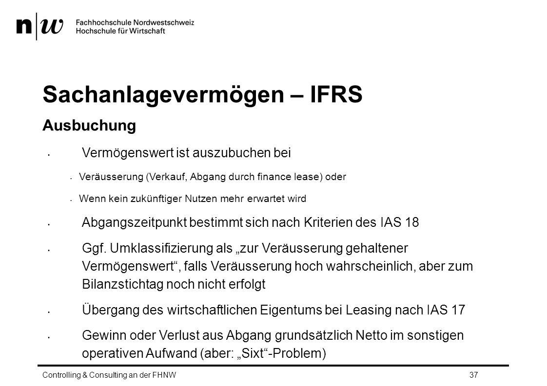 Sachanlagevermögen – IFRS