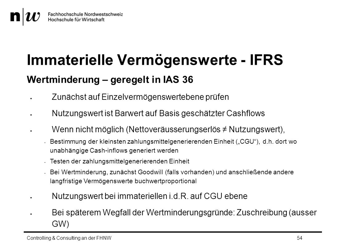 Immaterielle Vermögenswerte - IFRS