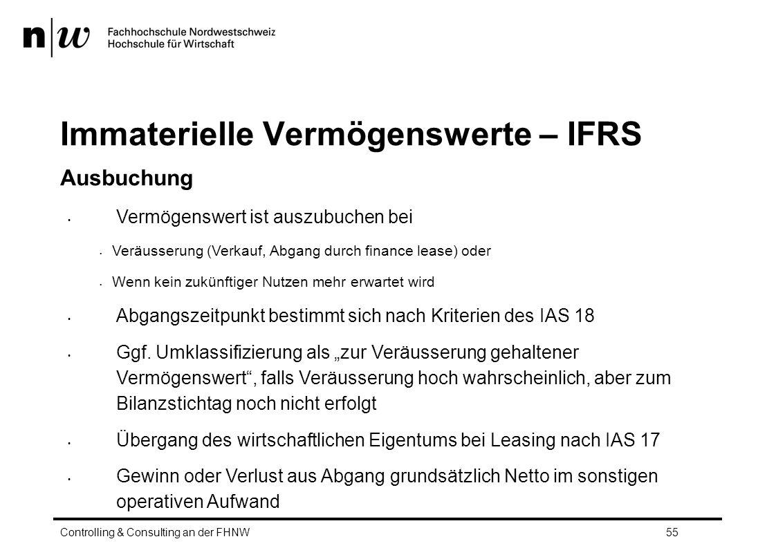 Immaterielle Vermögenswerte – IFRS
