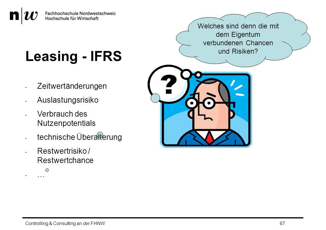 Leasing - IFRS Zeitwertänderungen Auslastungsrisiko