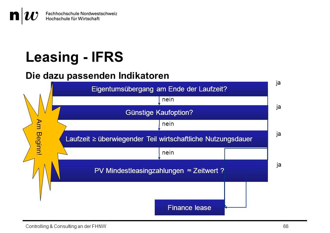 Leasing - IFRS Die dazu passenden Indikatoren