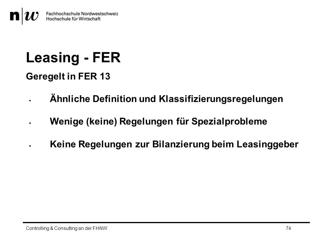Leasing - FER Geregelt in FER 13