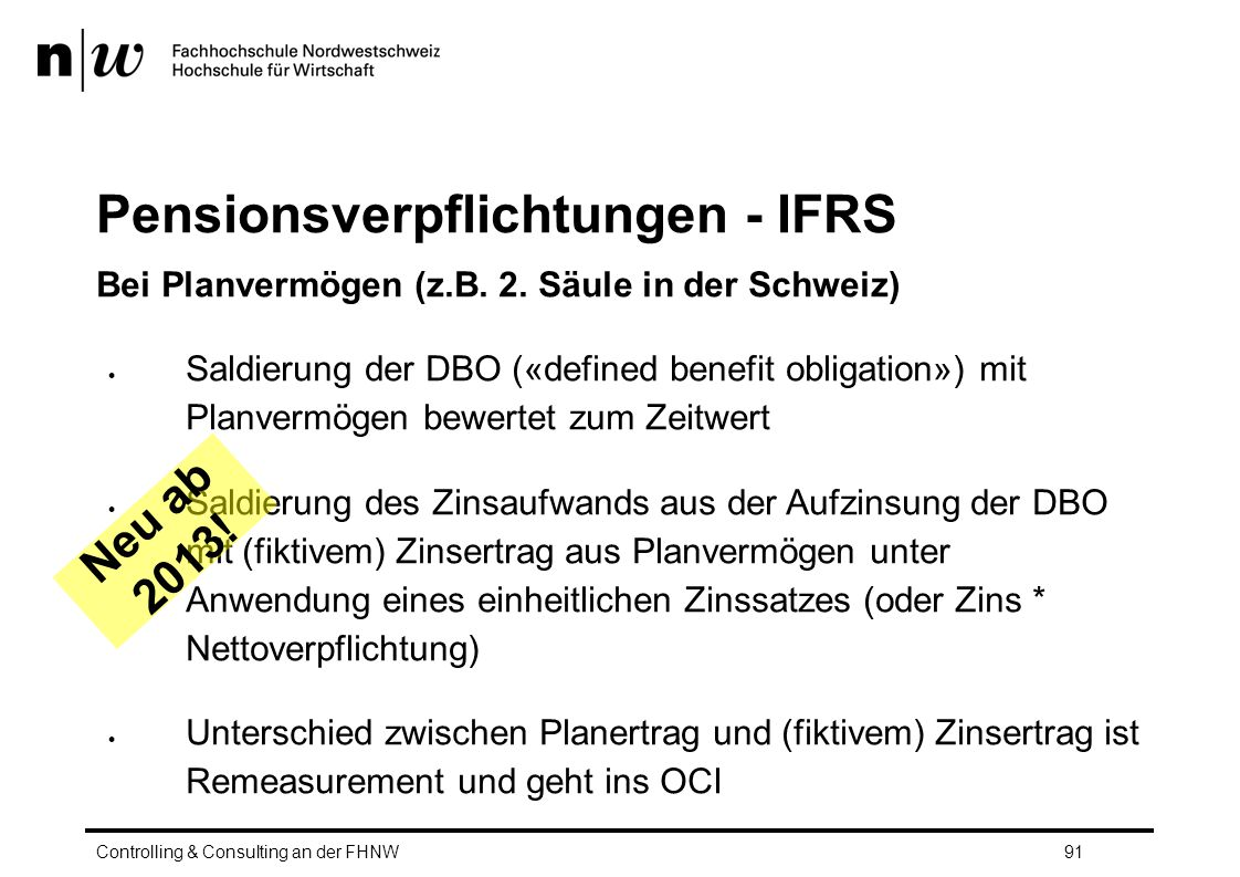 Pensionsverpflichtungen - IFRS