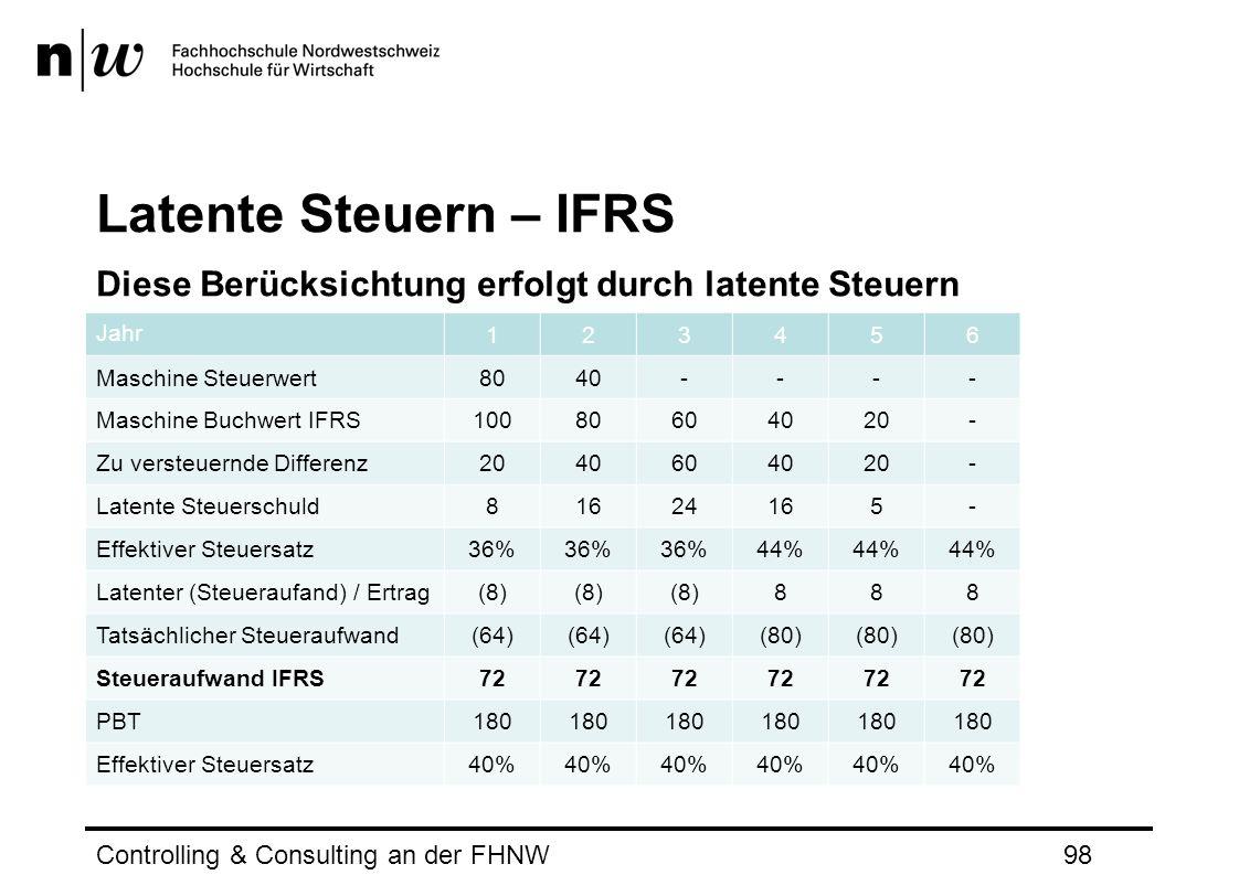 Latente Steuern – IFRS Diese Berücksichtung erfolgt durch latente Steuern. Jahr. 1. 2. 3. 4. 5.