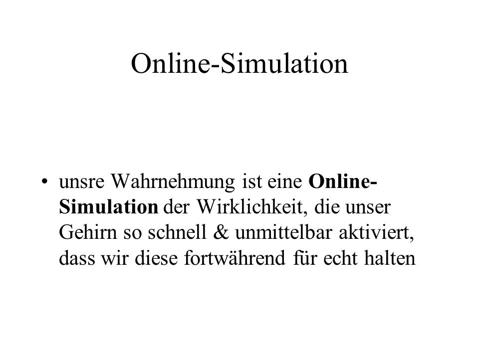 Online-Simulation