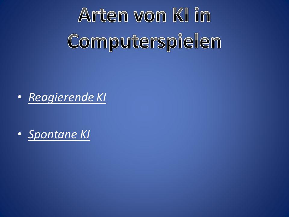 Arten von KI in Computerspielen