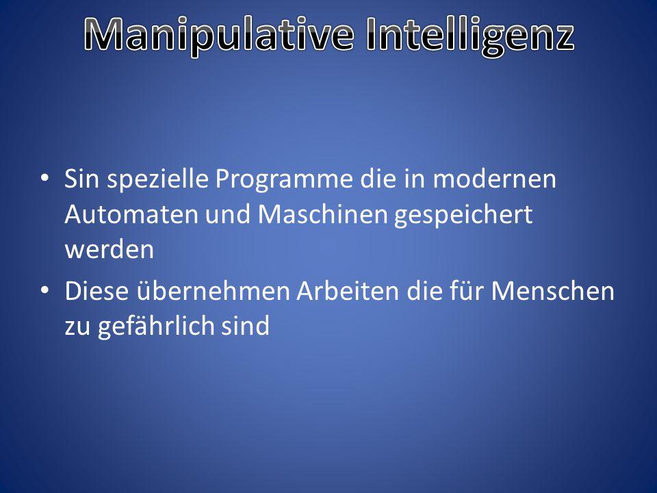 Manipulative Intelligenz