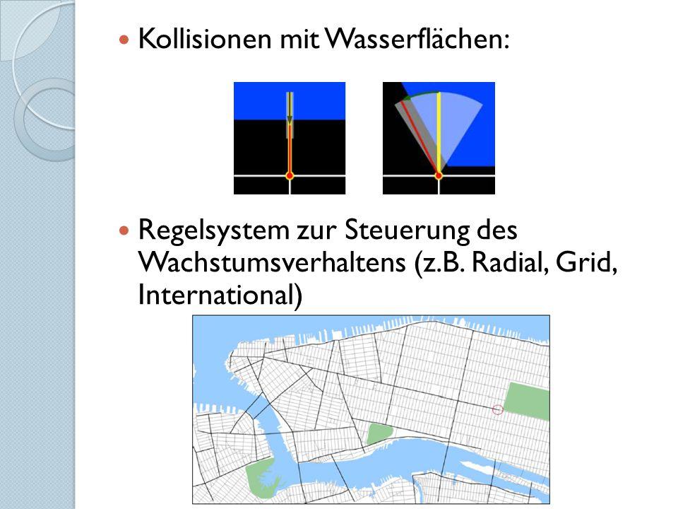 Kollisionen mit Wasserflächen: