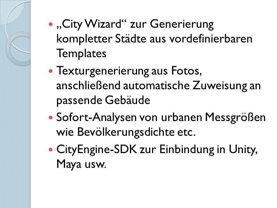"""""""City Wizard zur Generierung kompletter Städte aus vordefinierbaren Templates"""
