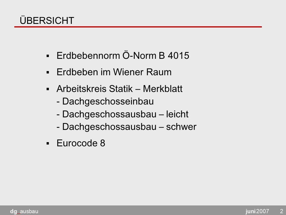 Erdbeben im Wiener Raum