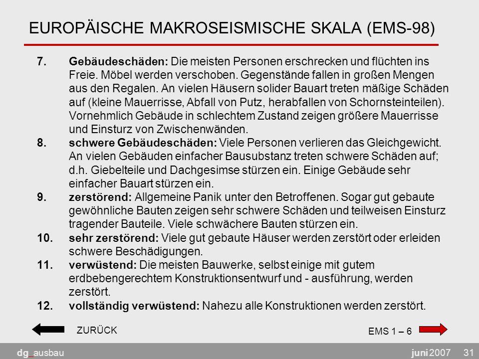EUROPÄISCHE MAKROSEISMISCHE SKALA (EMS-98)
