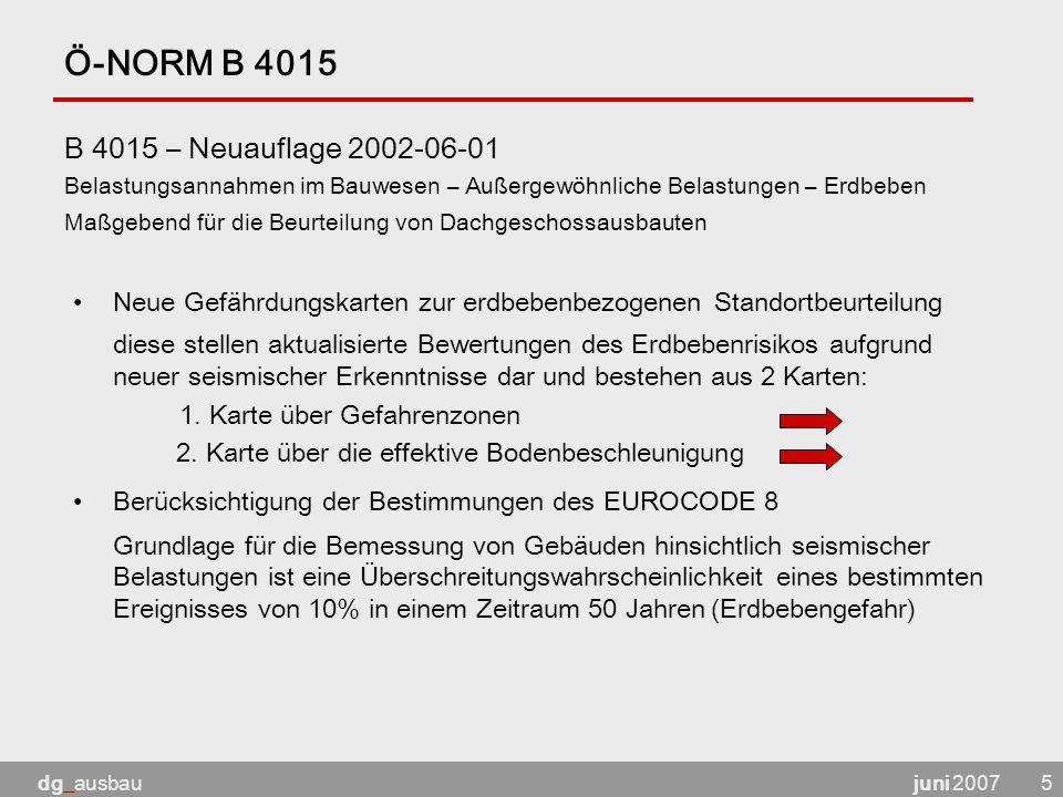 Ö-NORM B 4015 B 4015 – Neuauflage 2002-06-01