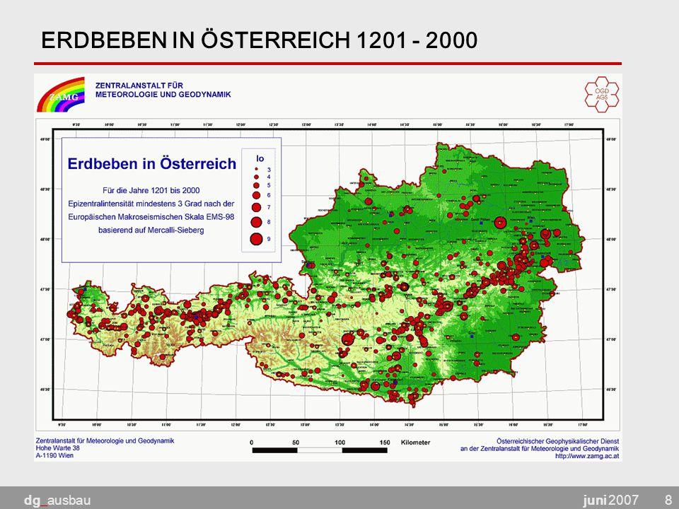 ERDBEBEN IN ÖSTERREICH 1201 - 2000