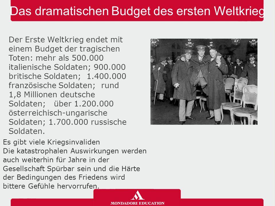 Das dramatischen Budget des ersten Weltkrieg