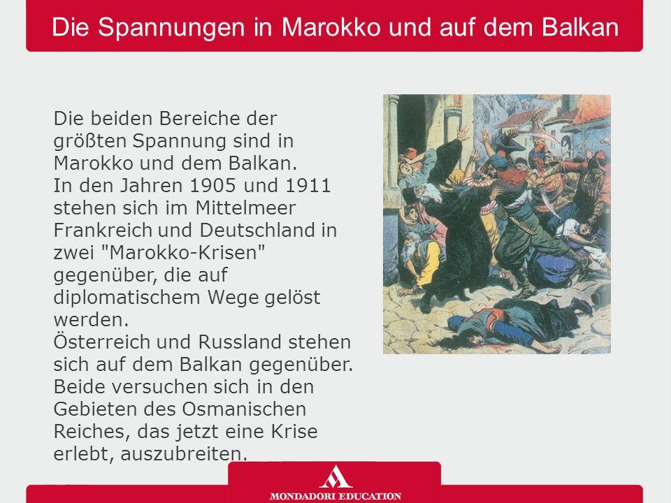 Die Spannungen in Marokko und auf dem Balkan