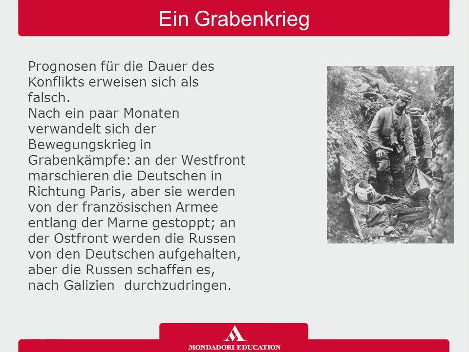 Ein Grabenkrieg 04/05/12. Prognosen für die Dauer des Konflikts erweisen sich als falsch.