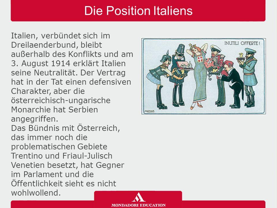 Die Position Italiens 04/05/12.
