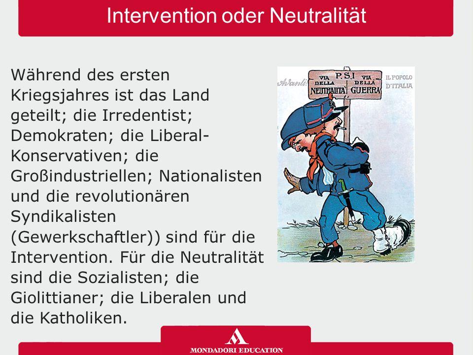 Intervention oder Neutralität
