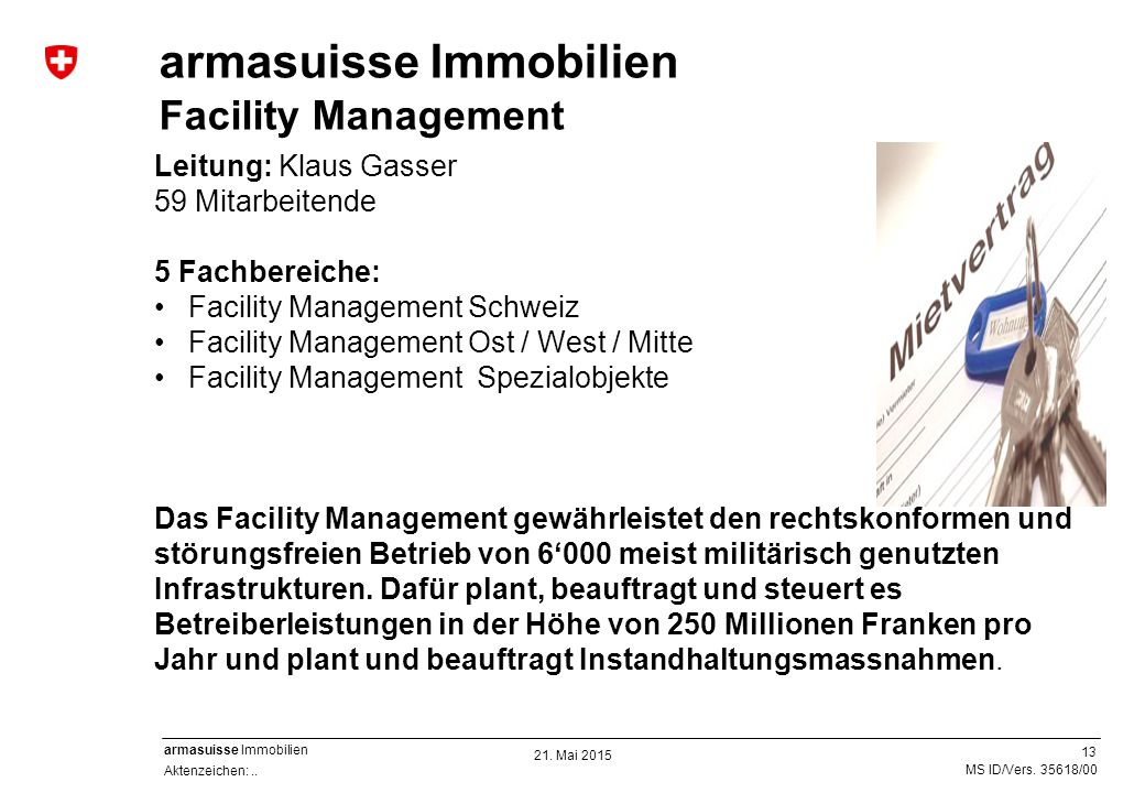 armasuisse Immobilien Facility Management