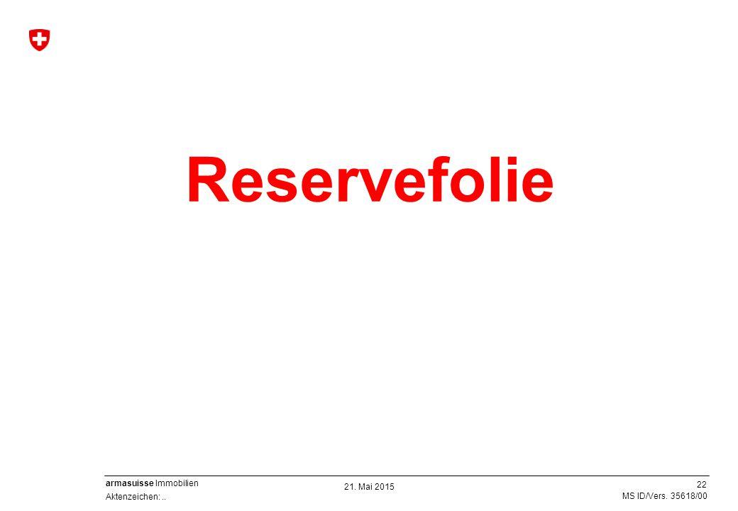 Reservefolie 21. Mai 2015