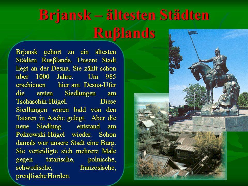 Brjansk – ältesten Städten Ruβlands