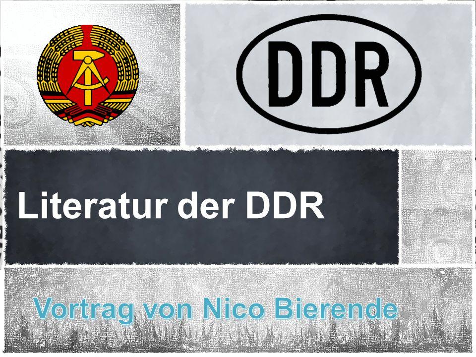 Literatur der DDR Vortrag von Nico Bierende