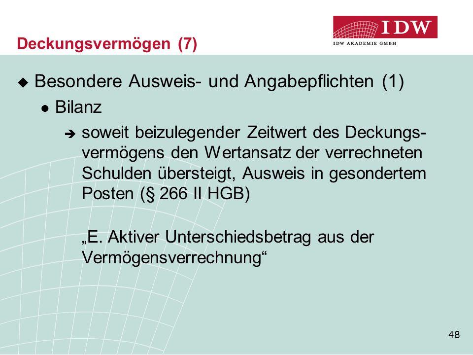 Besondere Ausweis- und Angabepflichten (1)