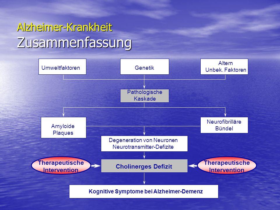 Alzheimer-Krankheit Zusammenfassung