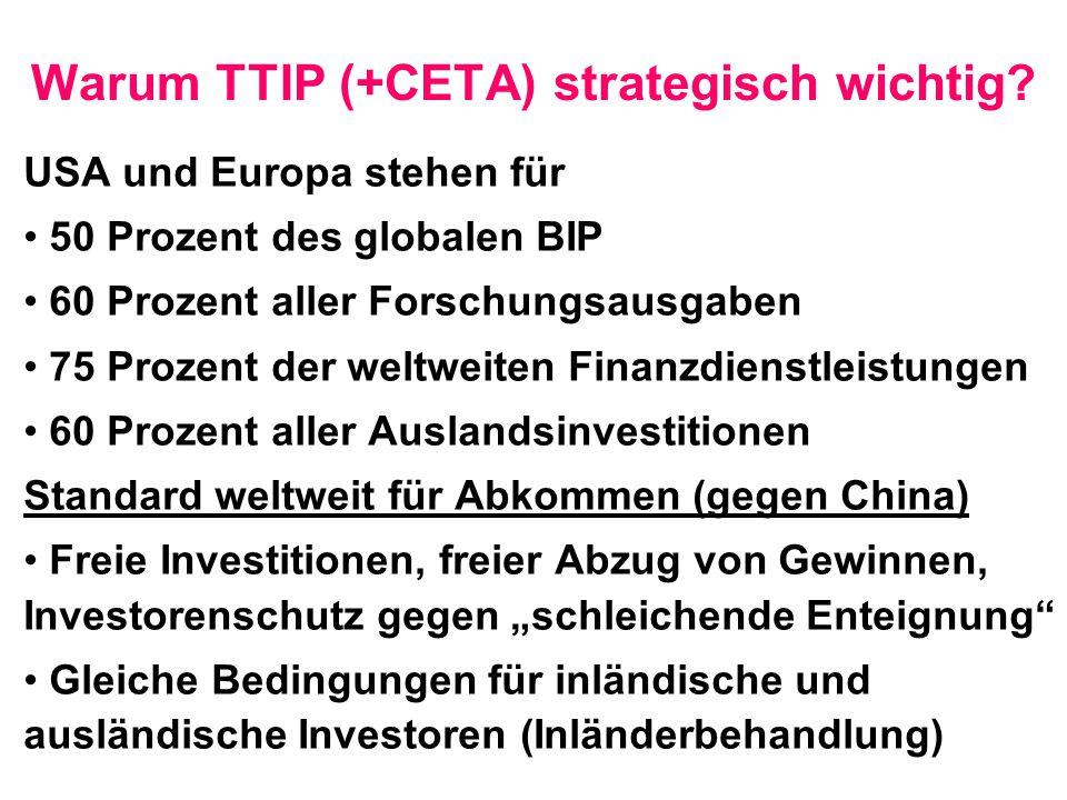 Warum TTIP (+CETA) strategisch wichtig