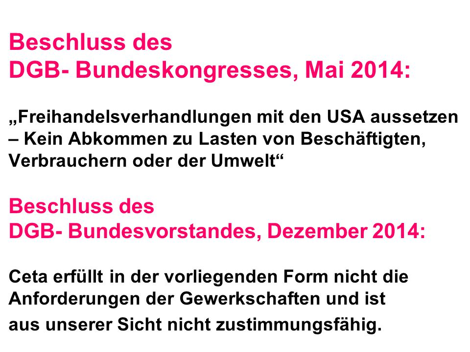 DGB- Bundeskongresses, Mai 2014: