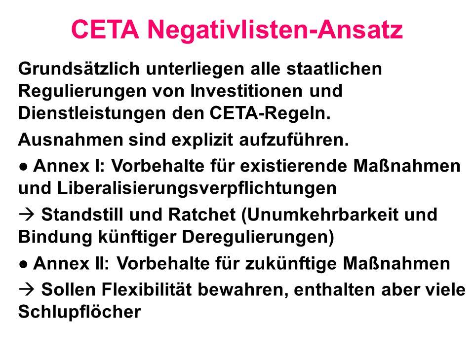 CETA Negativlisten-Ansatz