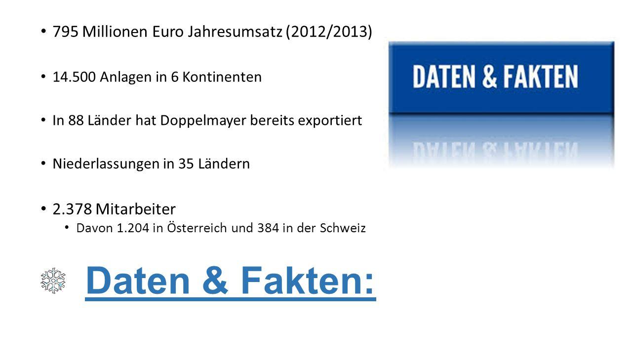 Daten & Fakten: 795 Millionen Euro Jahresumsatz (2012/2013)